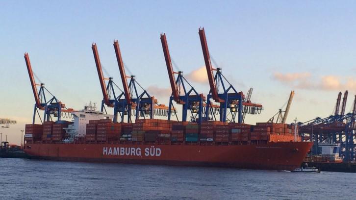 Auf hoher See von Hamburg nach Buenos Aires